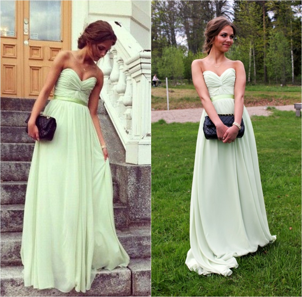 Green Bridesmaid Dresses Sage Dress Prom 2017 Long Women Summer Evening Formal